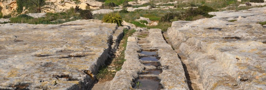 cart ruts malta gozo man made evidence tracks formatiion construction created formed