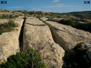 cart tracks escarpments ruts maltese islands gozo drops off