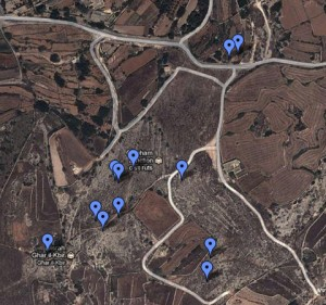Clapham Junction Malta map location Cart Ruts Tracks