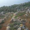 malta cart ruts over cliff top