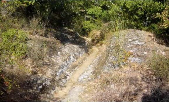 santa cecilia viterbo italy cart ruts tracks