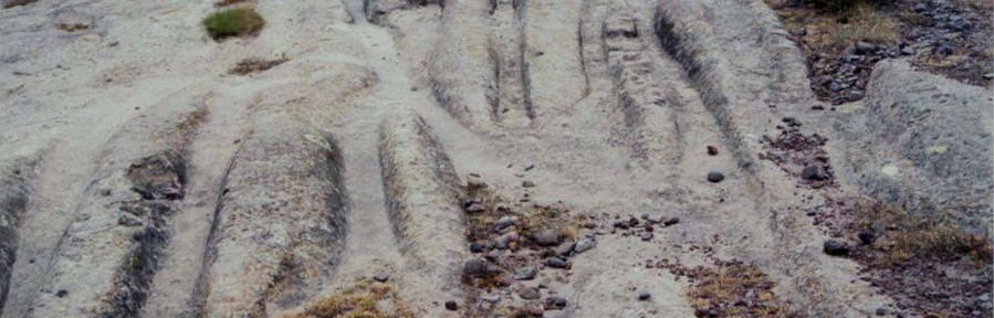 Tlaxcala Mexico Cart Ruts (Cart Tracks)
