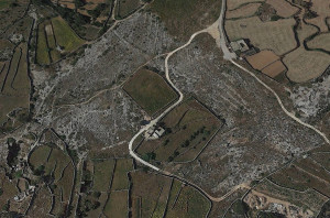 clapham junction malta view of cart ruts and cart tracks and Ghar il-Kbir