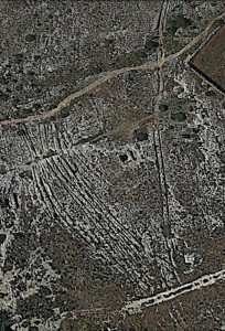 clapham junction malta cart ruts tracks view plan map main site field