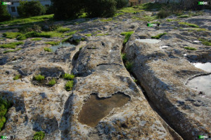 San Gwann cart ruts malta tracks maltese Tal-Mensija curving pair of lines