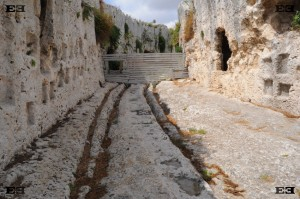 Syracuse Siracusa Siracuse Sicily cart ruts tracks chariot Greek amphitheater roman great